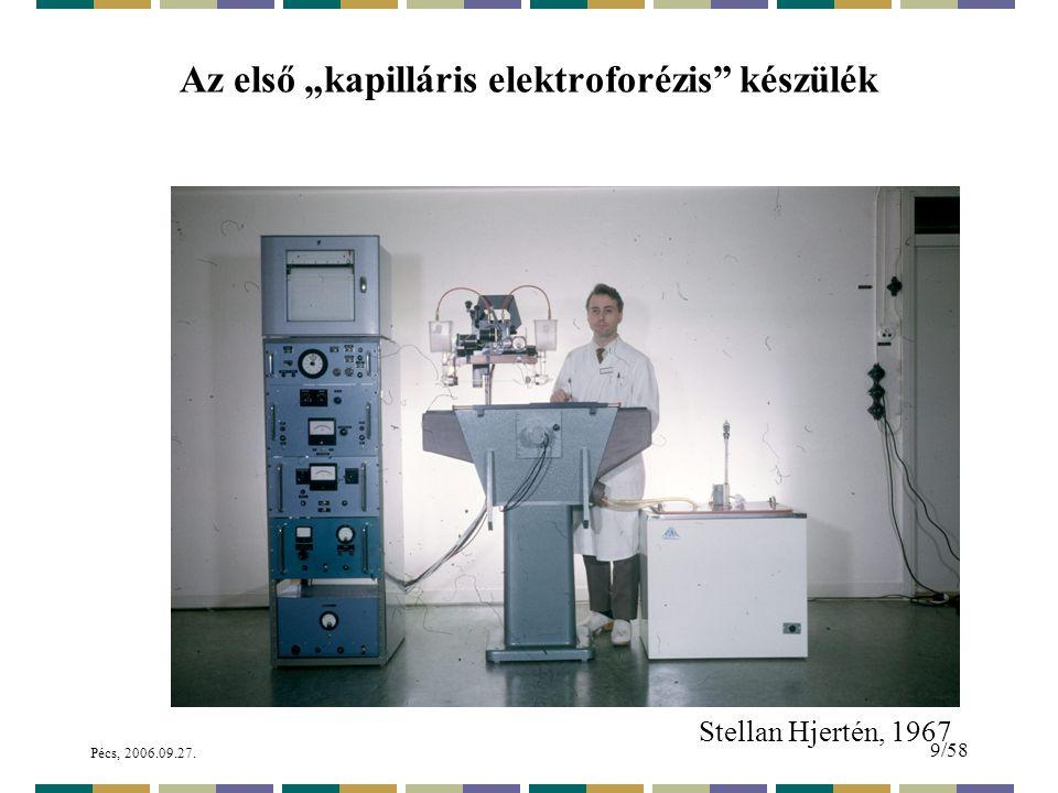 """Az első """"kapilláris elektroforézis készülék"""