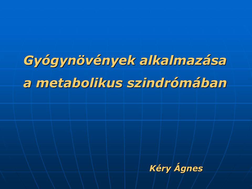Gyógynövények alkalmazása a metabolikus szindrómában