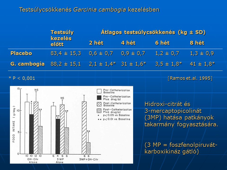 Testsúlycsökkenés Garcinia cambogia kezelésben