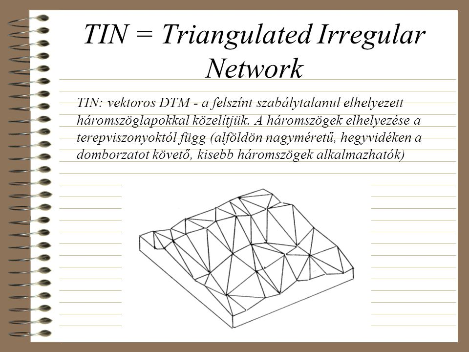 TIN = Triangulated Irregular Network