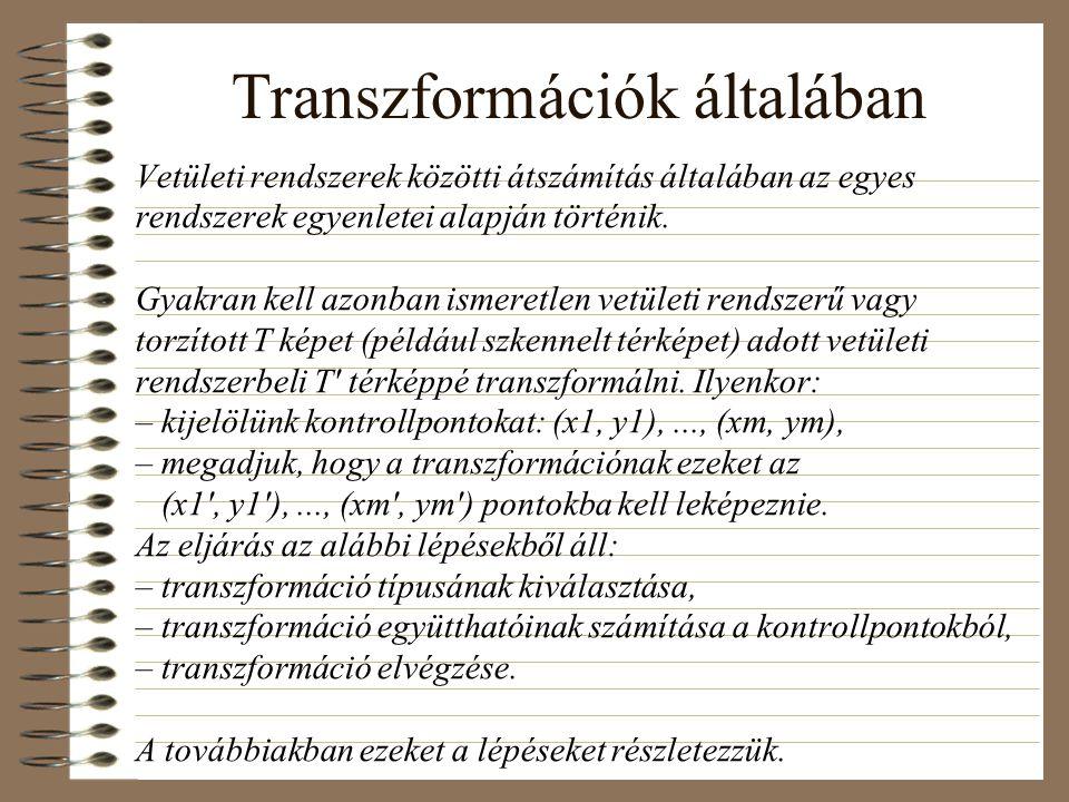 Transzformációk általában