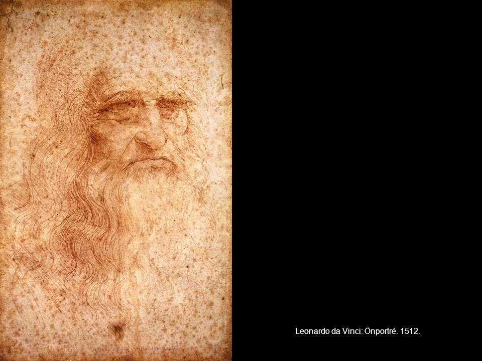 Leonardo da Vinci: Önportré. 1512.