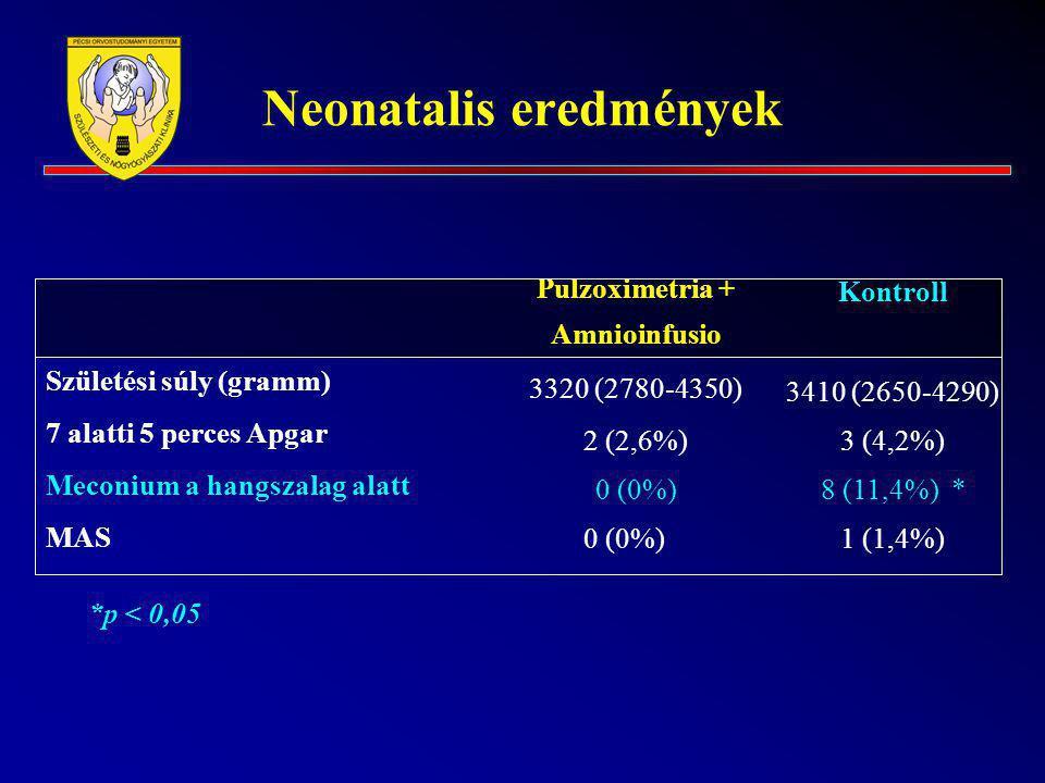 Neonatalis eredmények