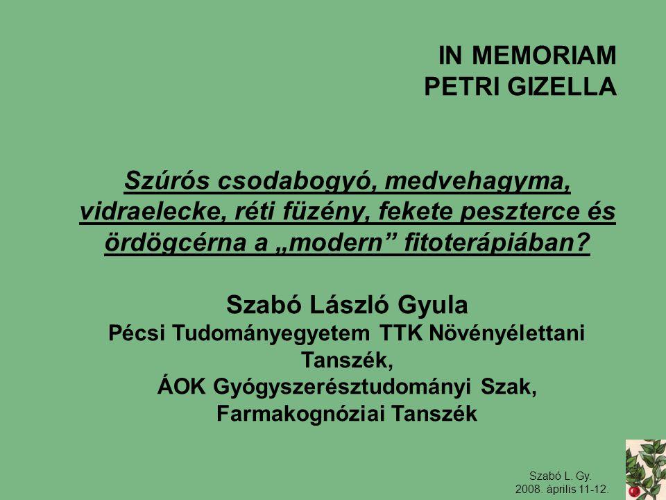 IN MEMORIAM PETRI GIZELLA