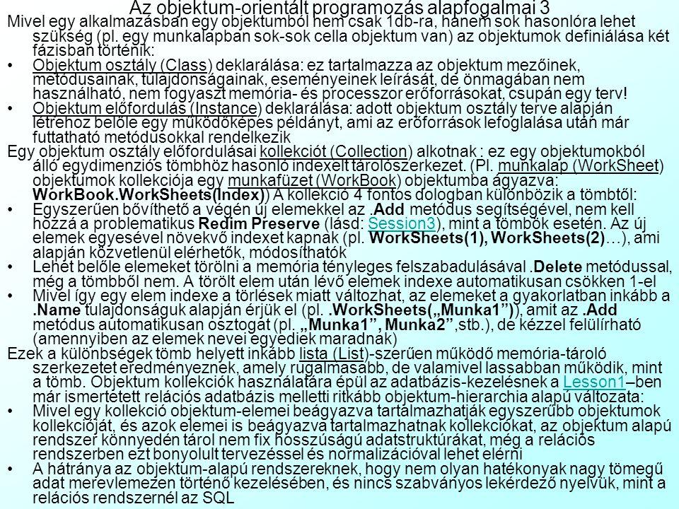 Az objektum-orientált programozás alapfogalmai 3