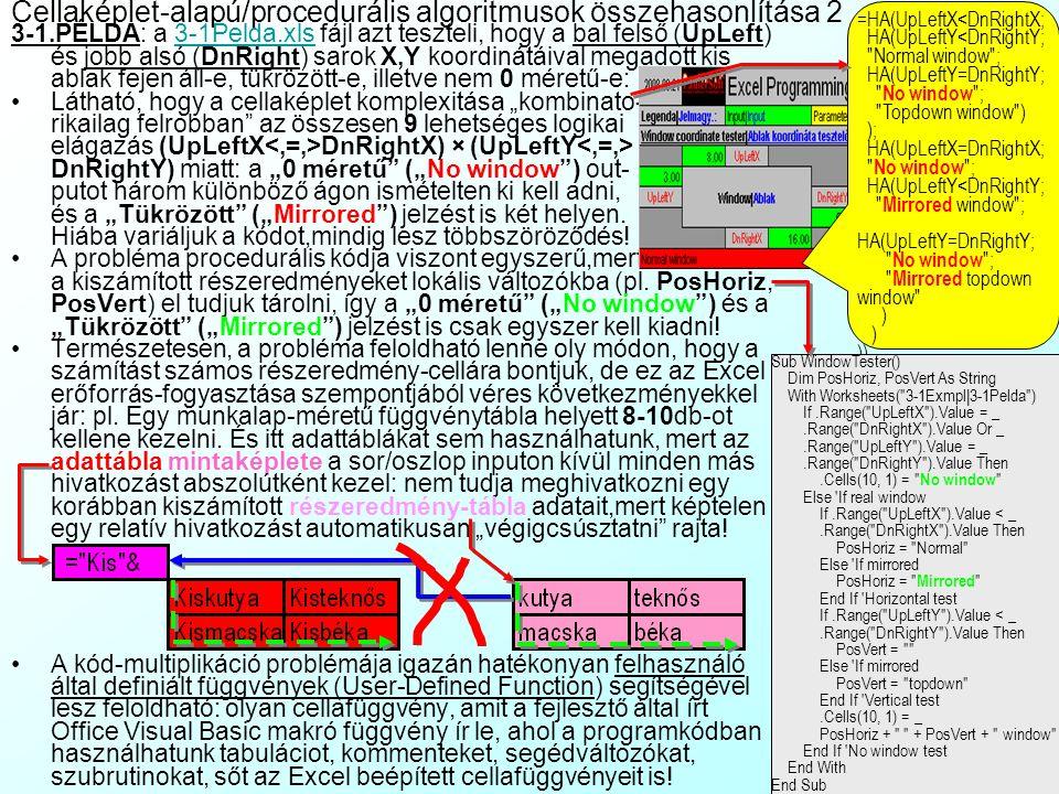 Cellaképlet-alapú/procedurális algoritmusok összehasonlítása 2