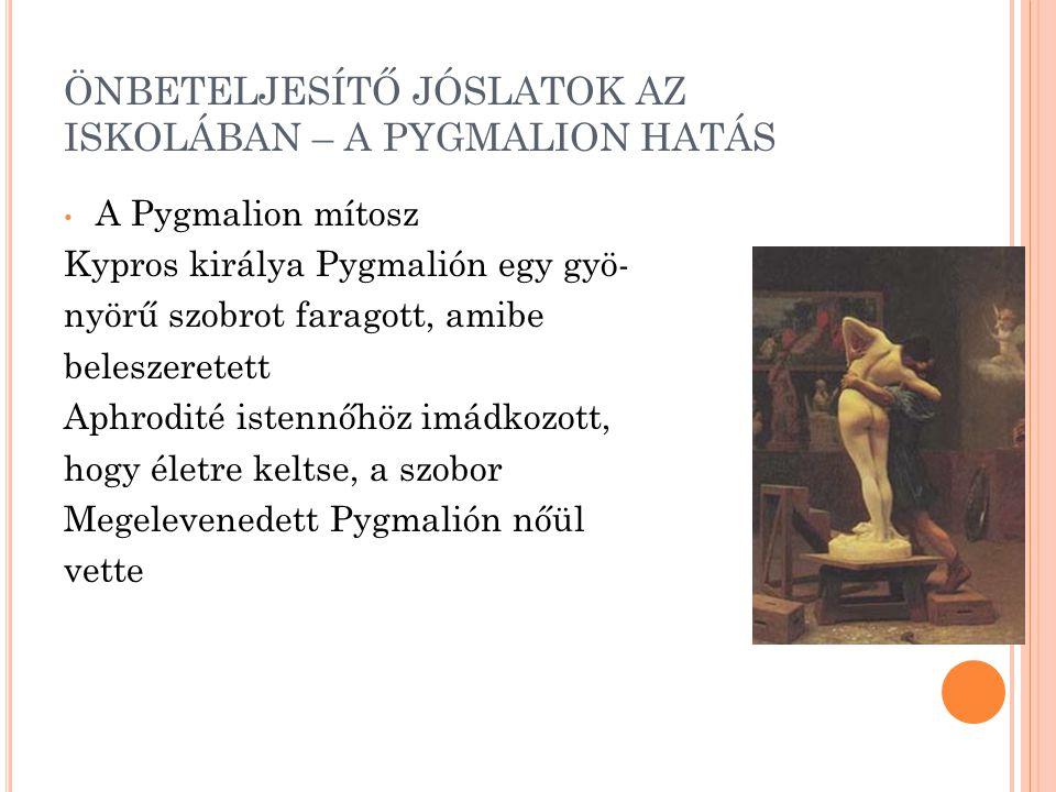ÖNBETELJESÍTŐ JÓSLATOK AZ ISKOLÁBAN – A PYGMALION HATÁS