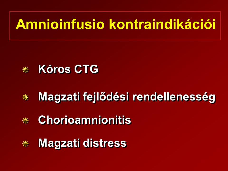 Amnioinfusio kontraindikációi