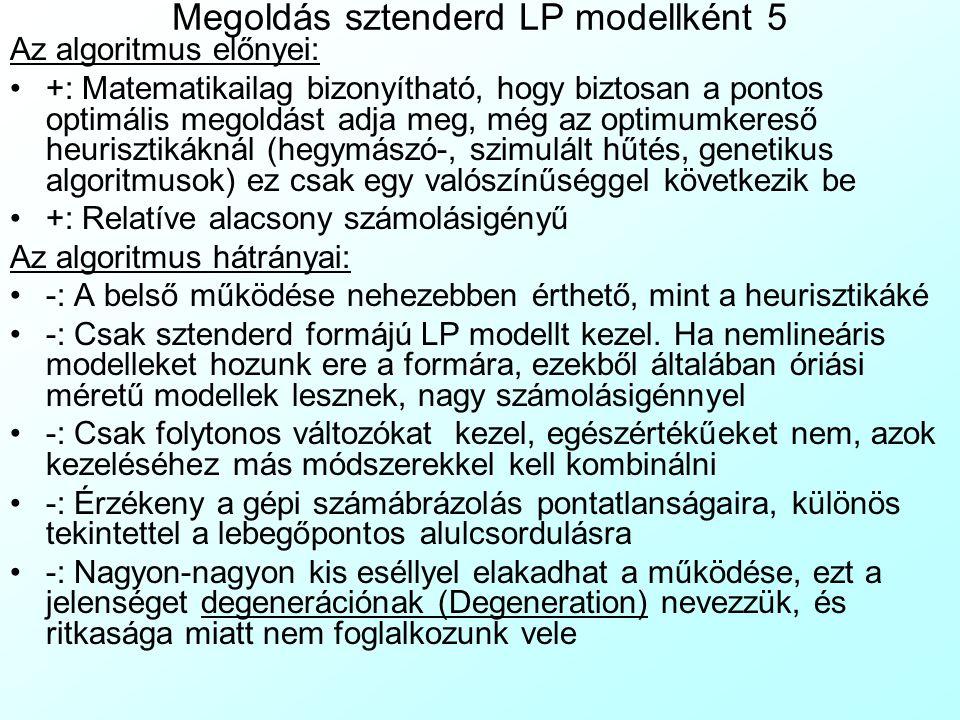 Megoldás sztenderd LP modellként 5