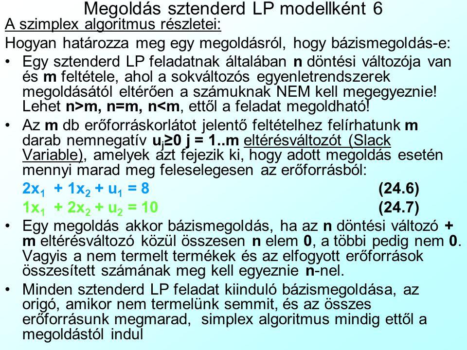 Megoldás sztenderd LP modellként 6