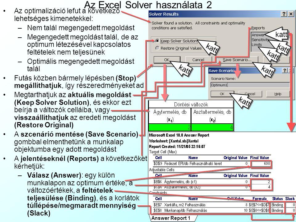 Az Excel Solver használata 2