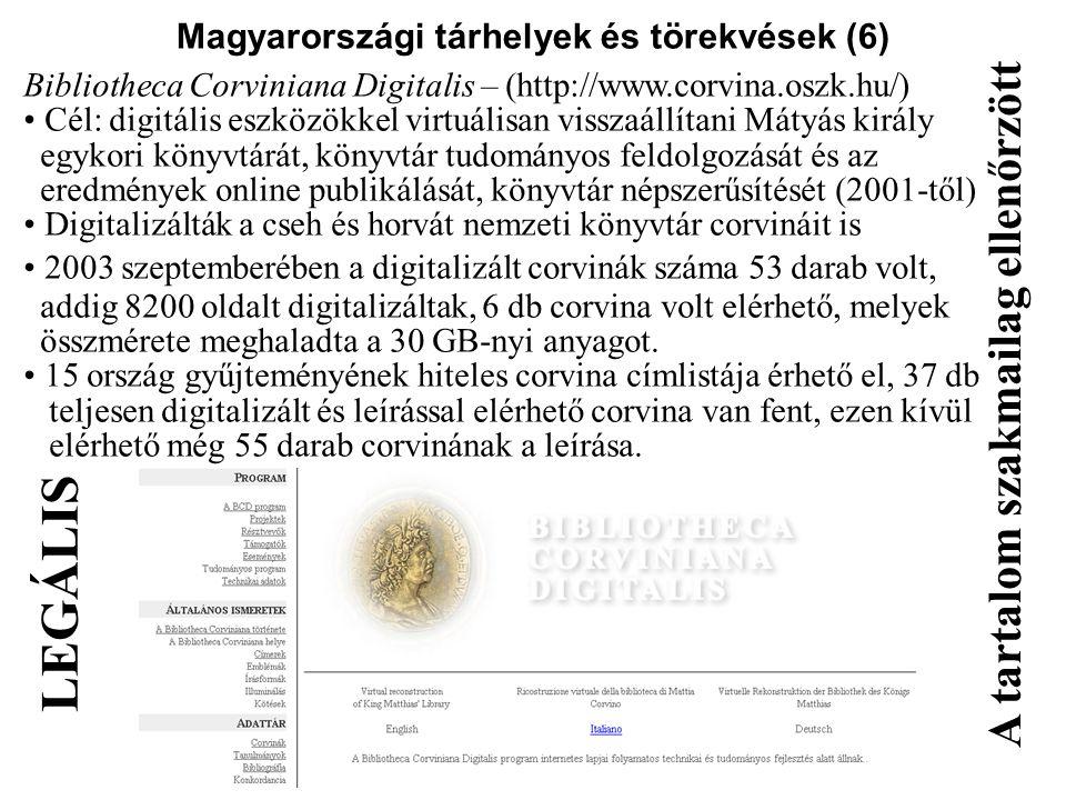 Magyarországi tárhelyek és törekvések (6)