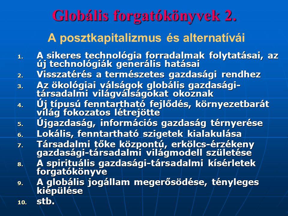 Globális forgatókönyvek 2. A posztkapitalizmus és alternatívái