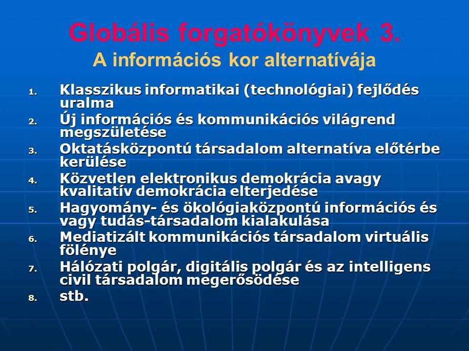Globális forgatókönyvek 3. A információs kor alternatívája