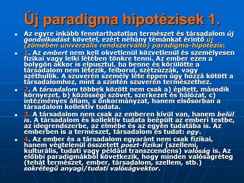 Új paradigma hipotézisek 1.