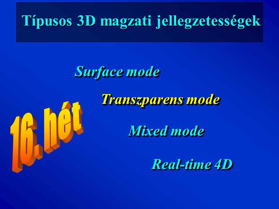 Típusos 3D magzati jellegzetességek