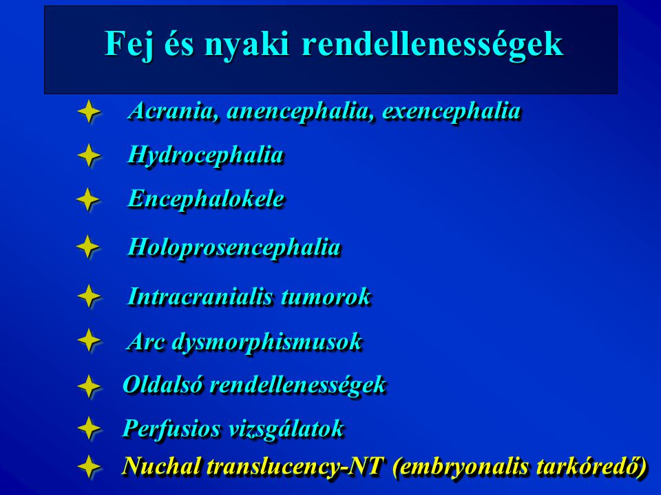 Fej és nyaki rendellenességek