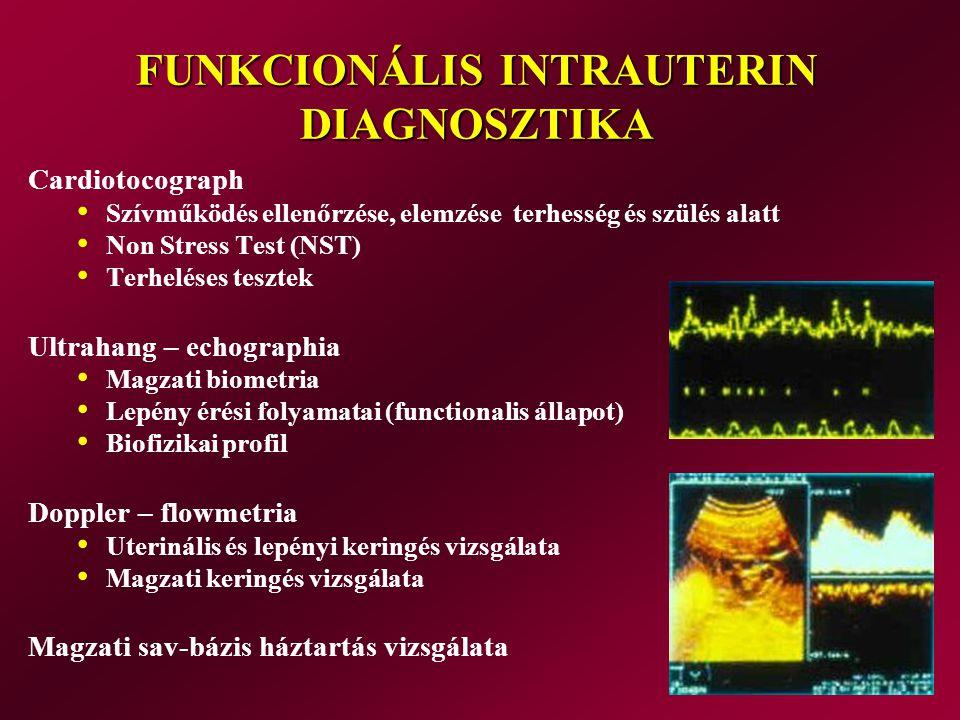 FUNKCIONÁLIS INTRAUTERIN DIAGNOSZTIKA