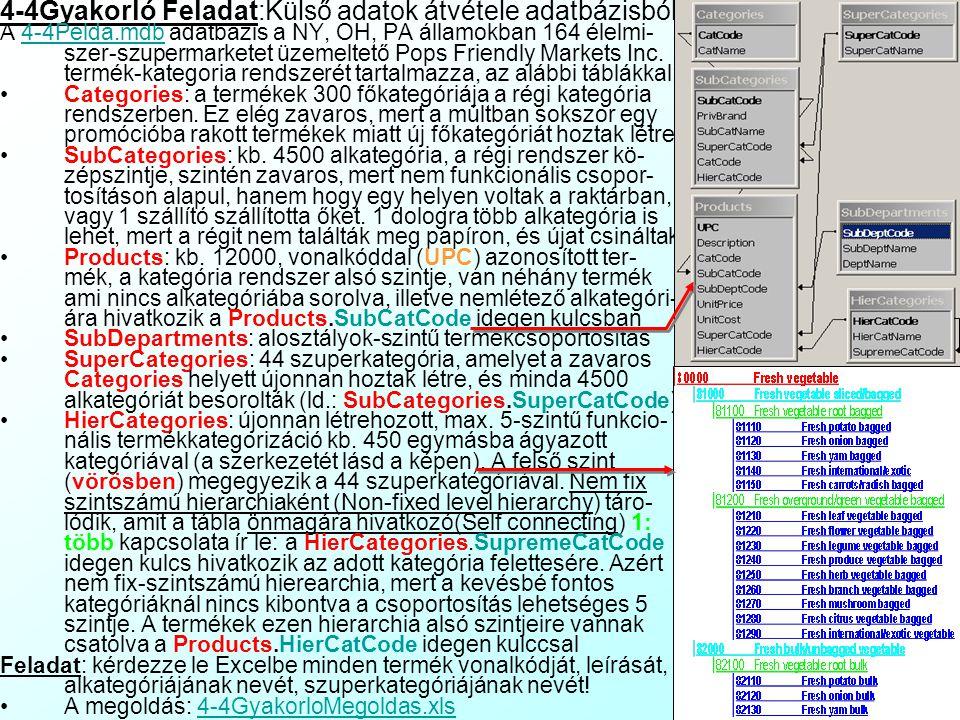 4-4Gyakorló Feladat:Külső adatok átvétele adatbázisból
