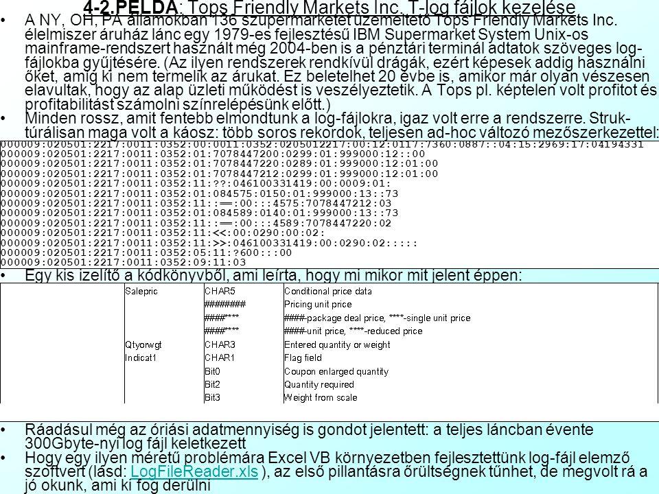 4-2.PÉLDA: Tops Friendly Markets Inc. T-log fájlok kezelése