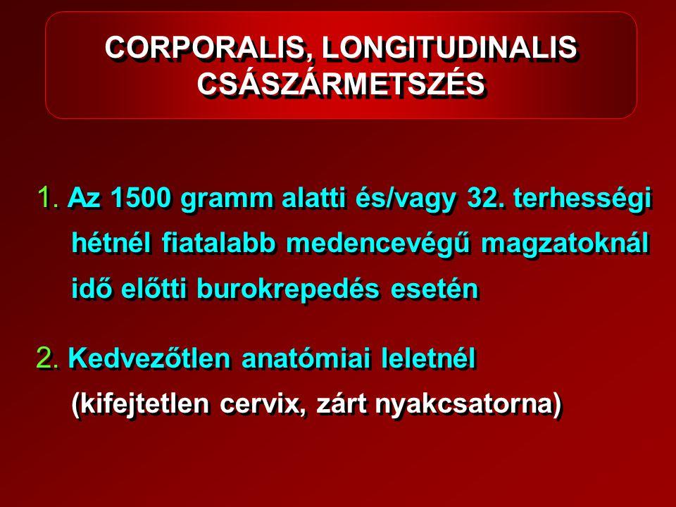 CORPORALIS, LONGITUDINALIS CSÁSZÁRMETSZÉS
