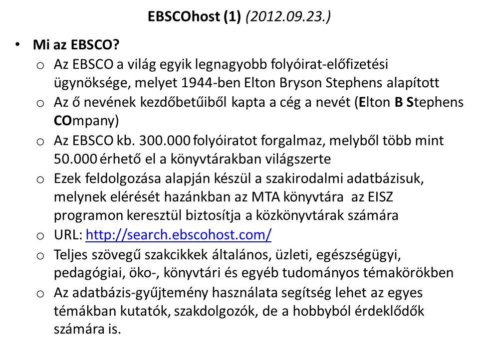 EBSCOhost (1) (2012.09.23.) Mi az EBSCO