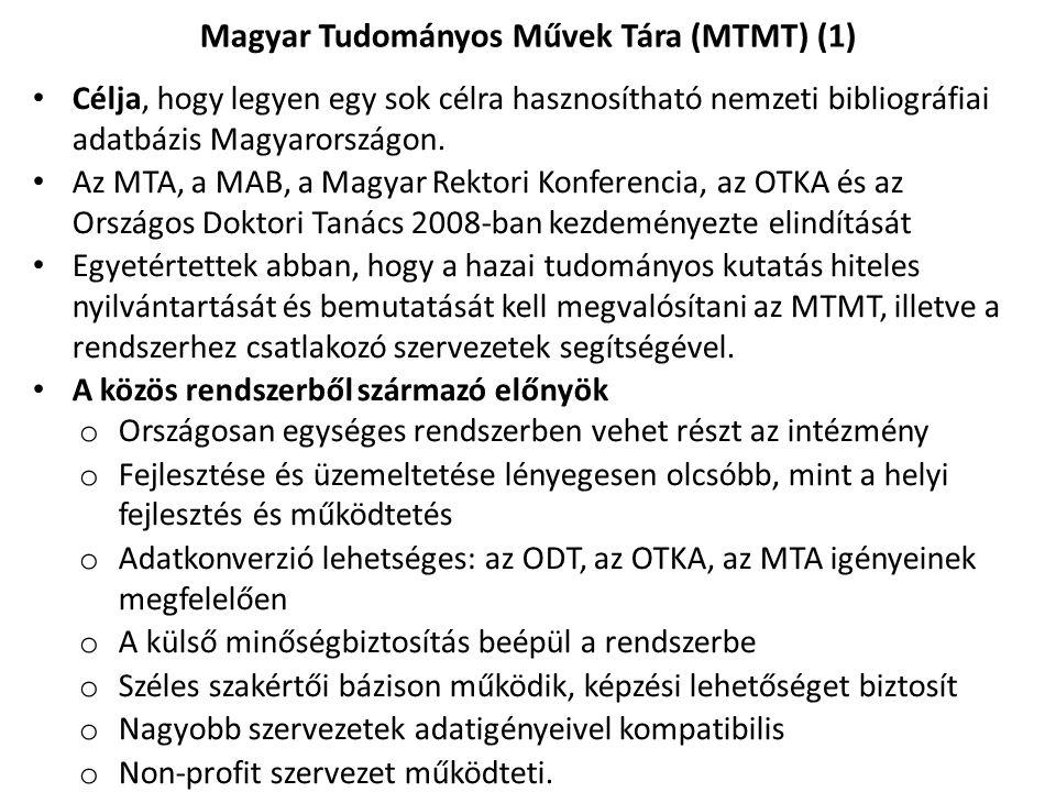 Magyar Tudományos Művek Tára (MTMT) (1)