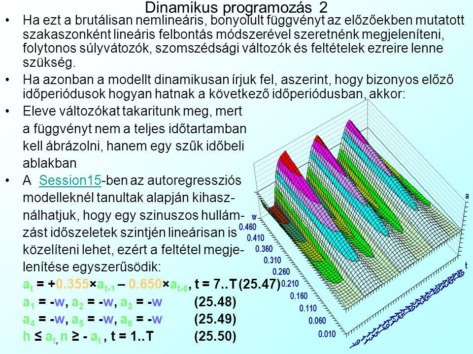 Dinamikus programozás 2