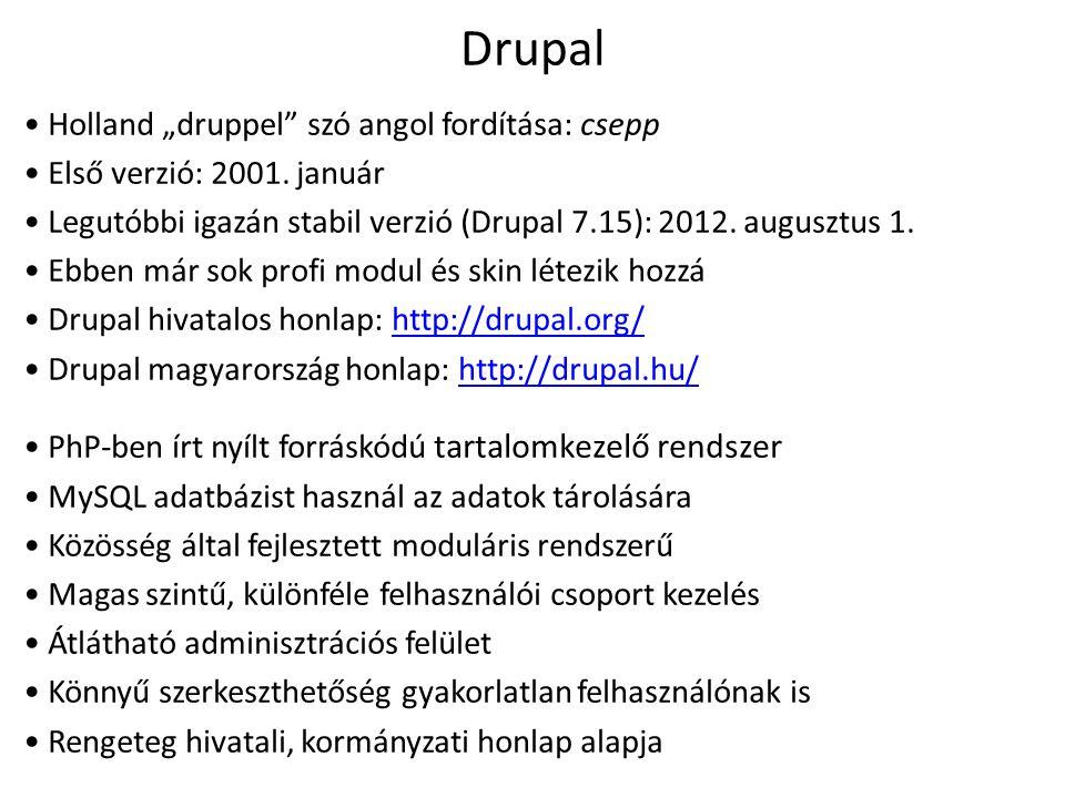 """Drupal Holland """"druppel szó angol fordítása: csepp"""