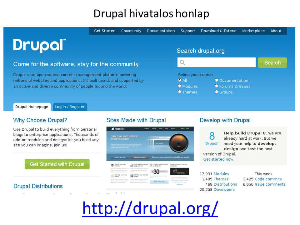 Drupal hivatalos honlap
