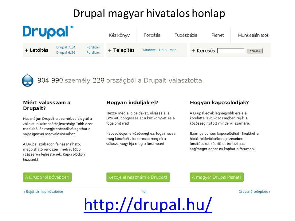 Drupal magyar hivatalos honlap