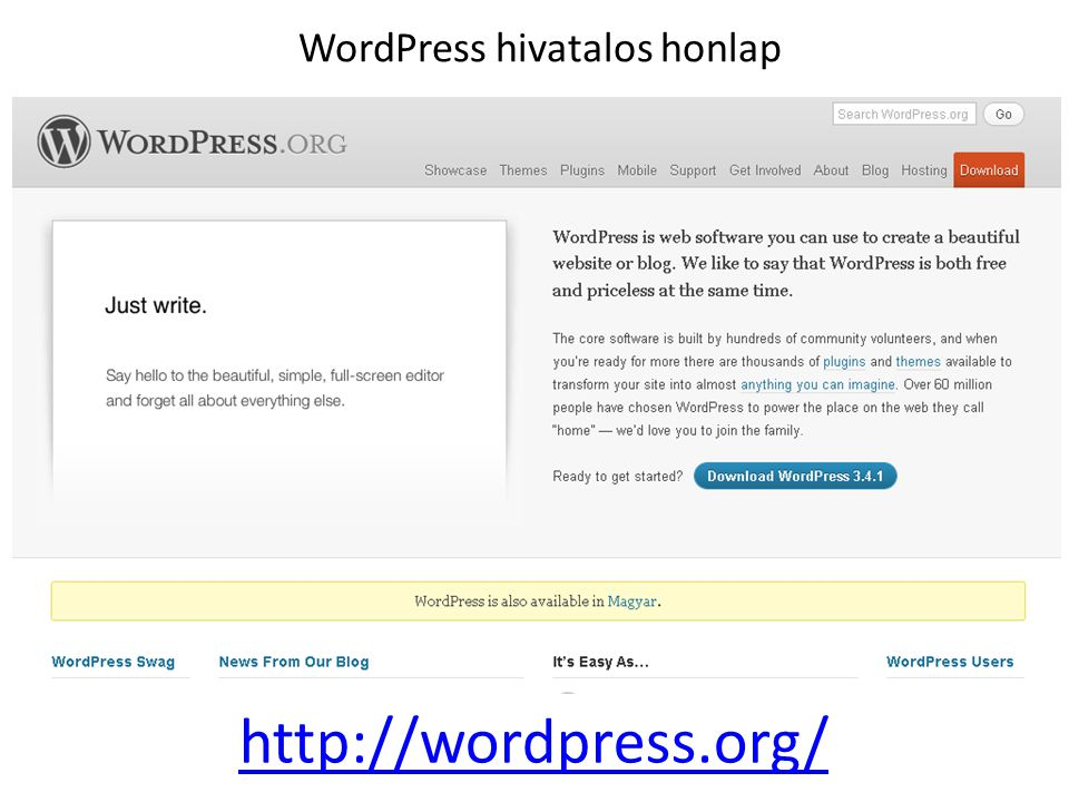 WordPress hivatalos honlap