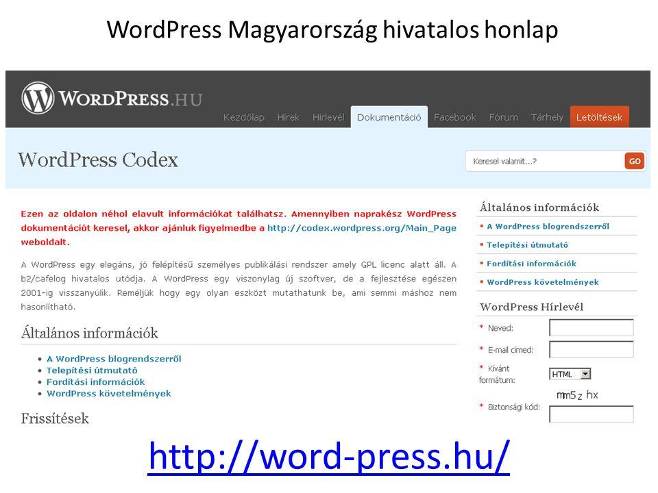 WordPress Magyarország hivatalos honlap