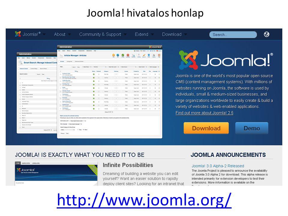 Joomla! hivatalos honlap
