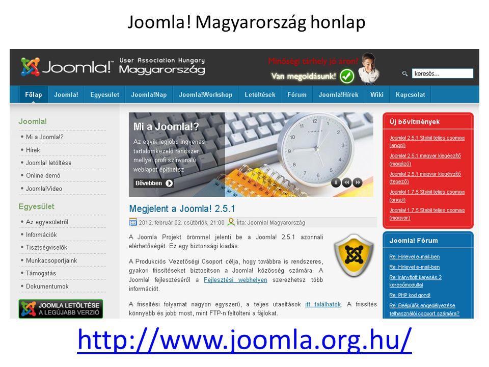 Joomla! Magyarország honlap