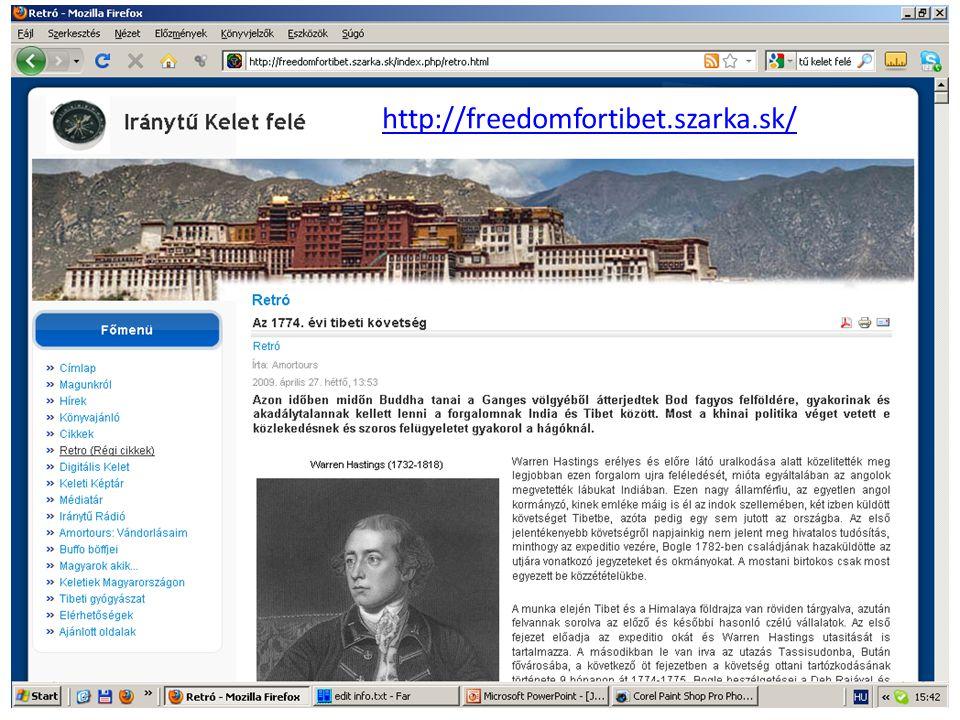 http://freedomfortibet.szarka.sk/