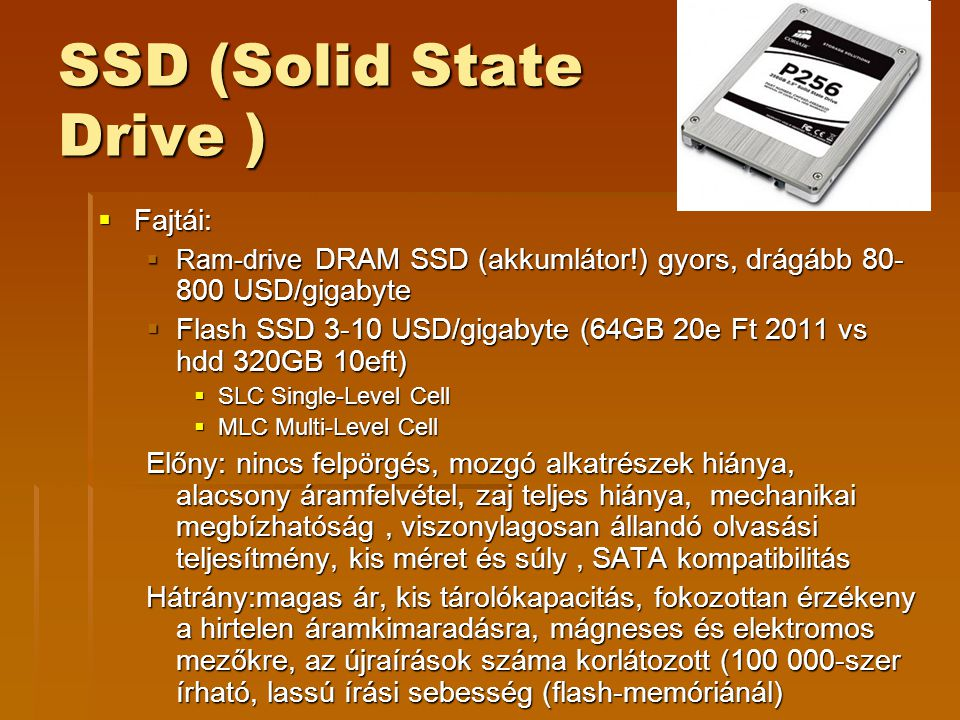 SSD (Solid State Drive )