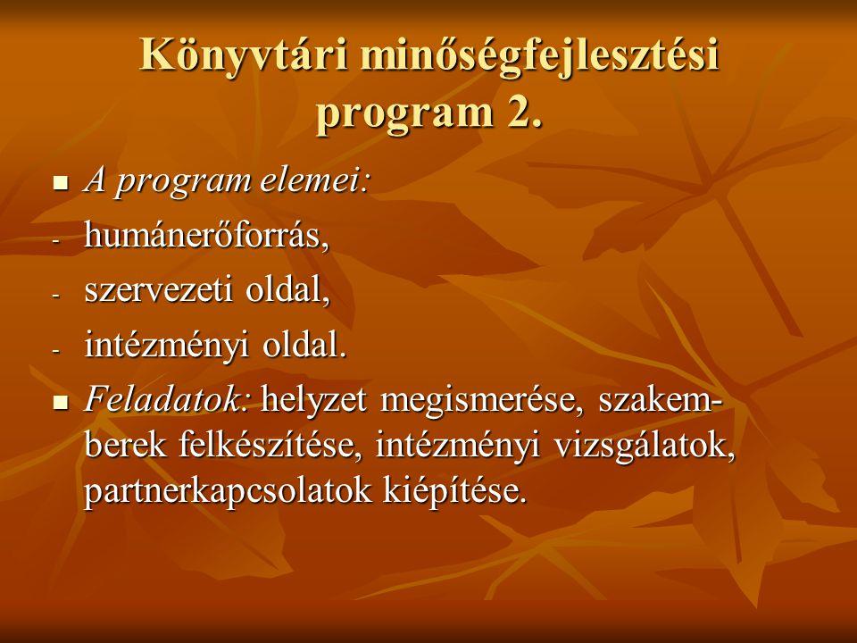 Könyvtári minőségfejlesztési program 2.