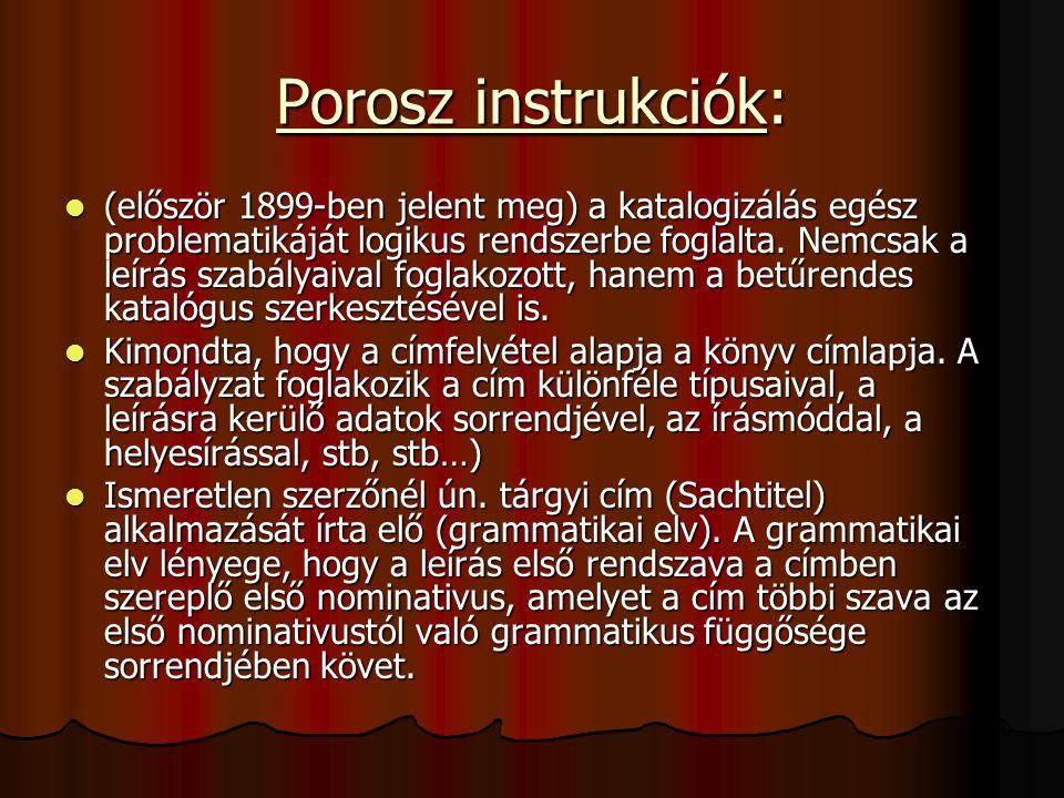 Porosz instrukciók: