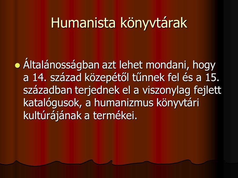 Humanista könyvtárak