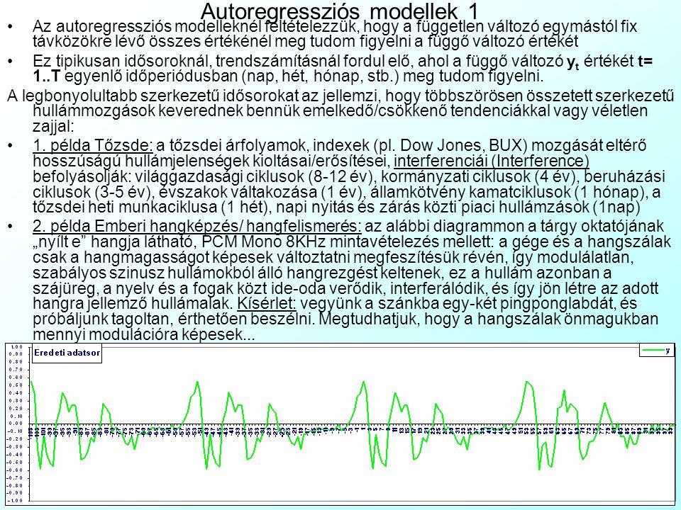 Autoregressziós modellek 1