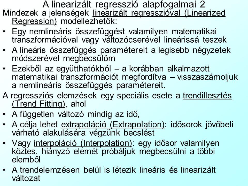 A linearizált regresszió alapfogalmai 2