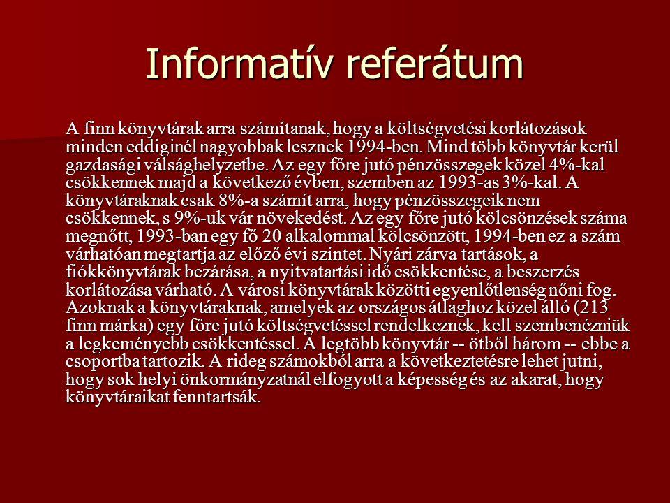 Informatív referátum