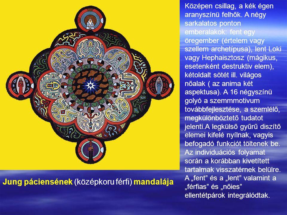 Jung páciensének (középkoru férfi) mandalája
