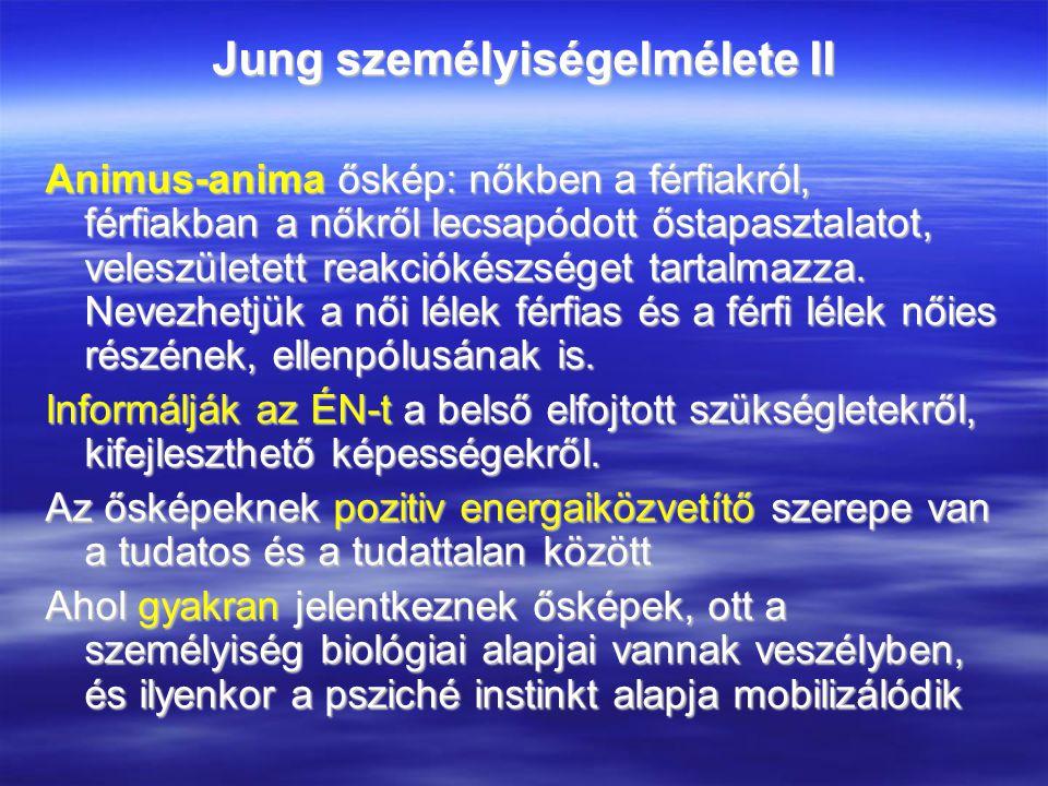 Jung személyiségelmélete II