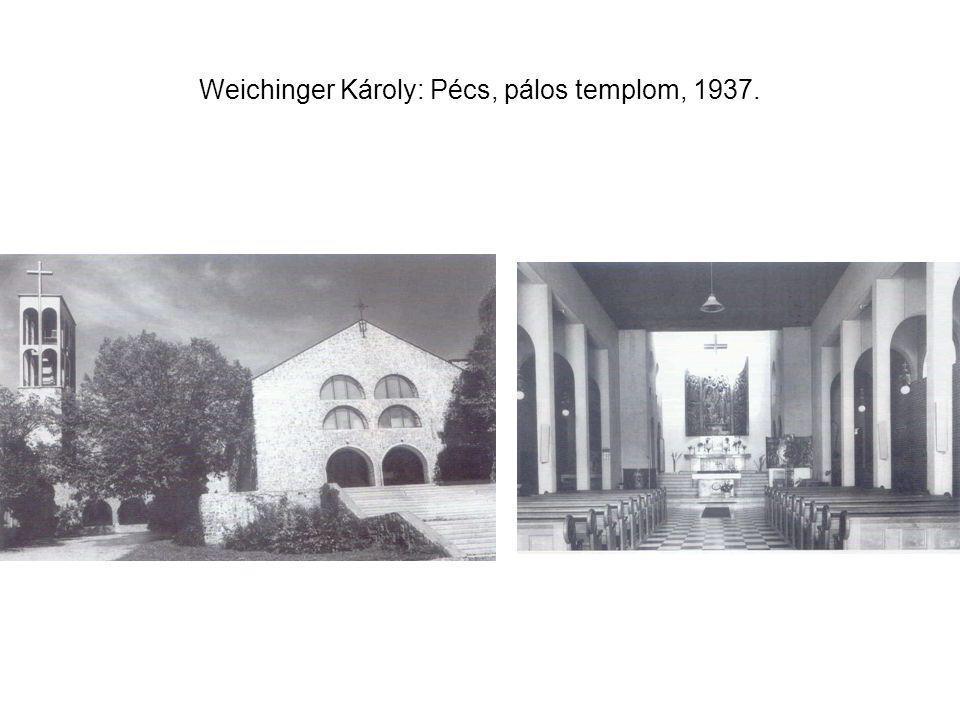 Weichinger Károly: Pécs, pálos templom, 1937.