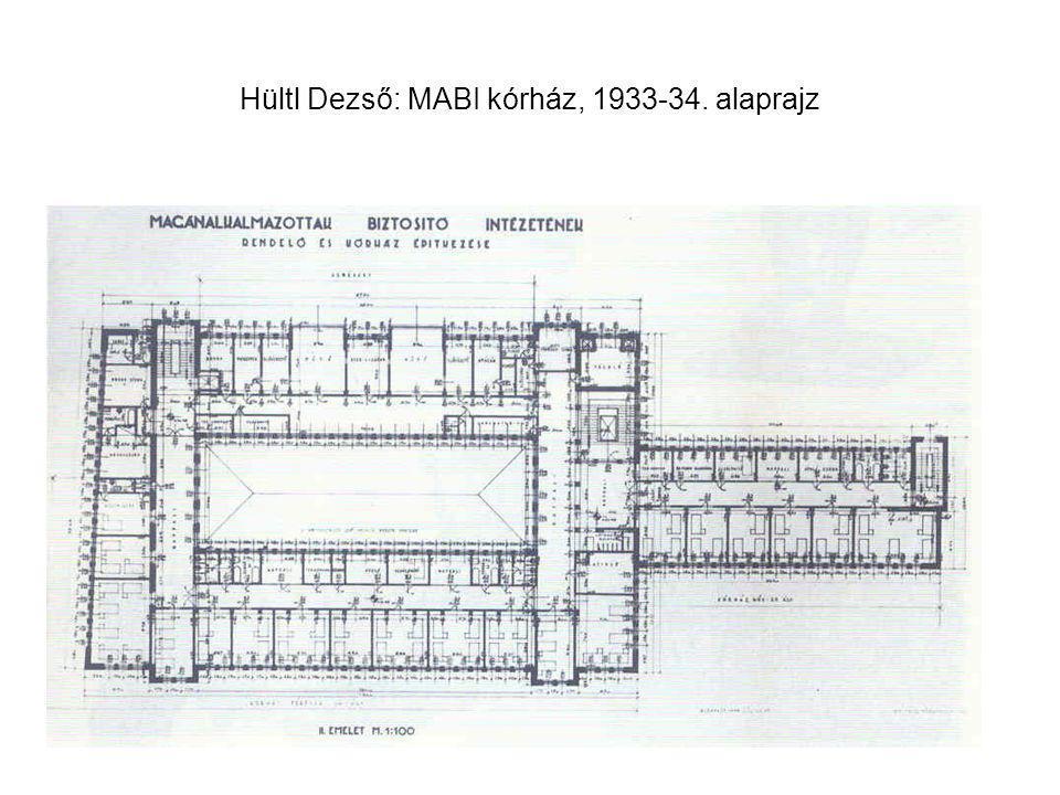 Hültl Dezső: MABI kórház, 1933-34. alaprajz