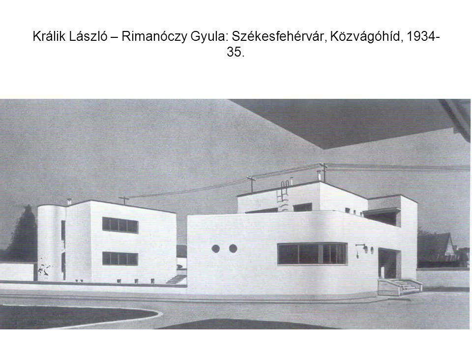 Králik László – Rimanóczy Gyula: Székesfehérvár, Közvágóhíd, 1934-35.