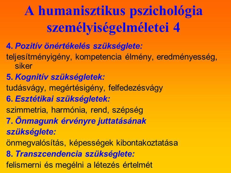 A humanisztikus pszichológia személyiségelméletei 4