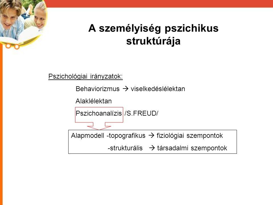 A személyiség pszichikus struktúrája